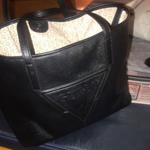Black and Brown Women's Guess Purse